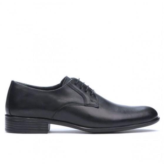 Men stylish, elegant shoes 837 black