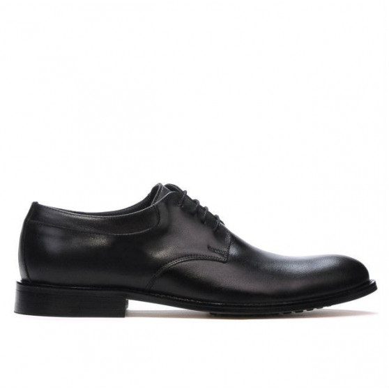 Men stylish, elegant shoes 839 black