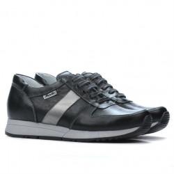 Pantofi sport dama 679 negru+argintiu