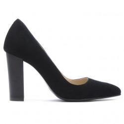 Women stylish, elegant shoes 1261 black antilopa