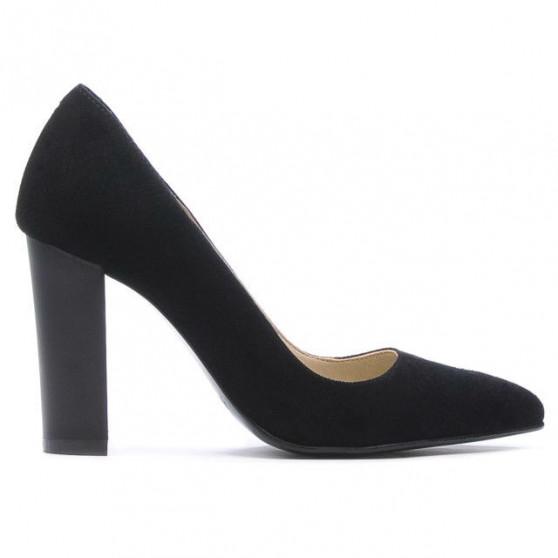 Pantofi eleganti dama 1261 negru antilopa