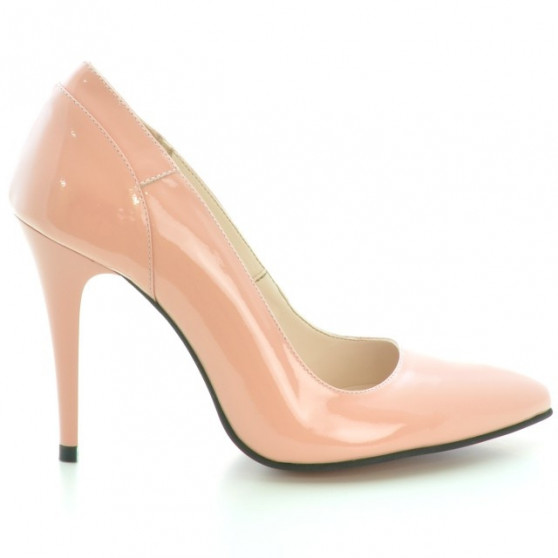 Women stylish, elegant shoes 1230 patent pink