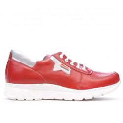 Pantofi sport dama 680 rosu combinat