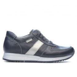 Women sport shoes 679 indigo+silver
