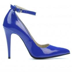 Women stylish, elegant shoes 1247 patent blue