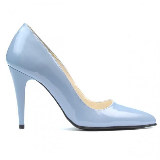Women stylish, elegant shoes 1246 patent bleu