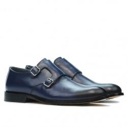 Men stylish, elegant shoes 840 a indigo