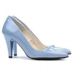 Women stylish, elegant shoes 1234 patent bleu