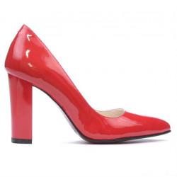 Women stylish, elegant shoes 1261 patent red