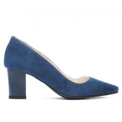 Pantofi eleganti dama 1253 turcoaz antilopa