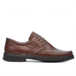 Men stylish, elegant shoes 843 brown