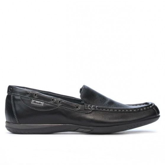 Men loafers, moccasins 719 black