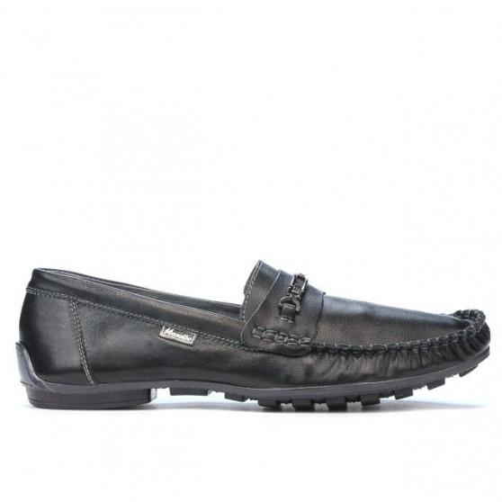 Men loafers, moccasins 737 black