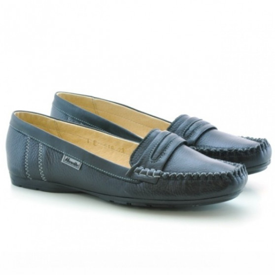 Women loafers, moccasins 619 black