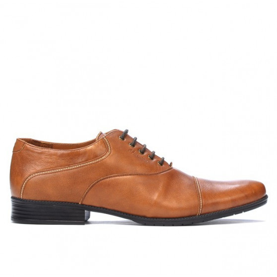 Men stylish, elegant, casual shoes 738 brown cerat