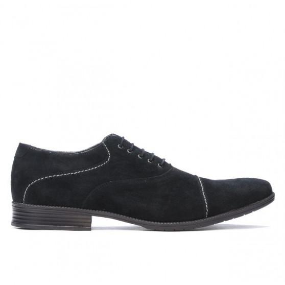 Men stylish, elegant, casual shoes 738 black velour