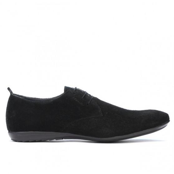 Men casual shoes 794 black velour