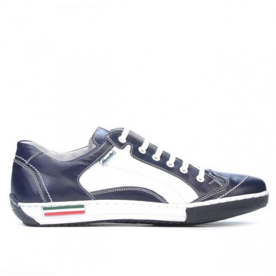 Teenagers stylish, elegant shoes 307 indigo+white