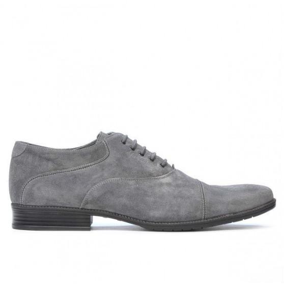 Men stylish, elegant, casual shoes 738 gray velour