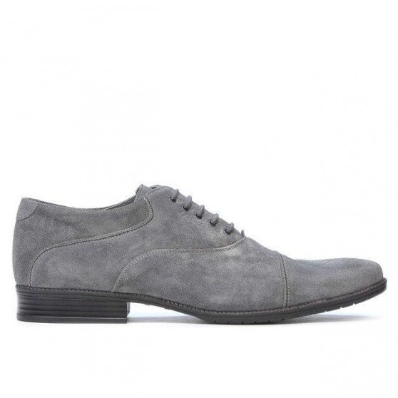 Pantofi casual / eleganti barbati 738 gri velur