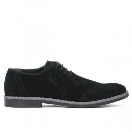 Men stylish, elegant, casual shoes 746 black velour