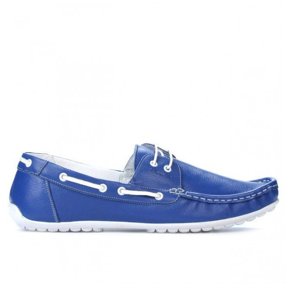 Men loafers, moccasins 778 indigo
