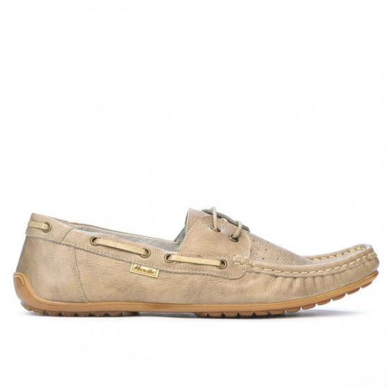 Men loafers, moccasins 778p sand perforat