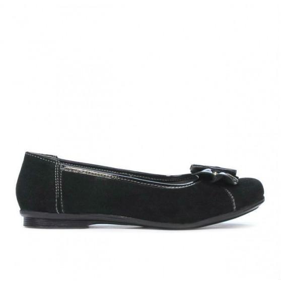Pantofi copii 129 negru velur