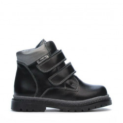 Small children boots 37c black+silver