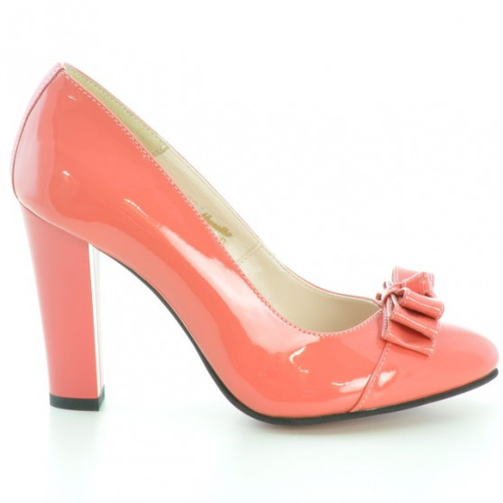 Women stylish, elegant shoes 1226 patent red coral
