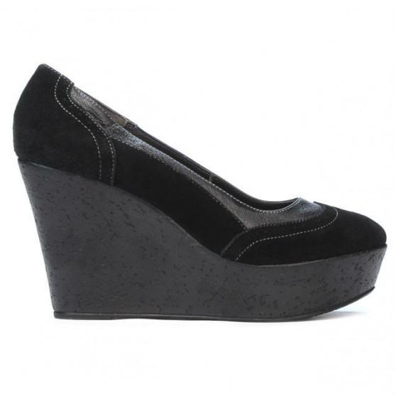 Pantofi casual dama 630 negru velur