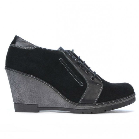 Women casual shoes 625 black velour combined