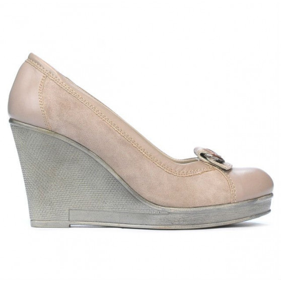 Pantofi casual dama 178 nisip combinat