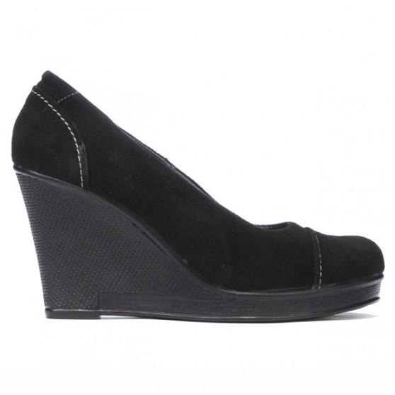 Pantofi casual dama 177 negru velur