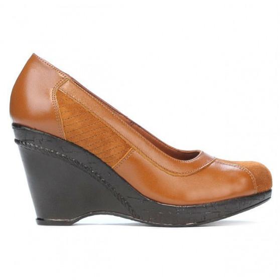 Pantofi casual dama 174 maro combinat