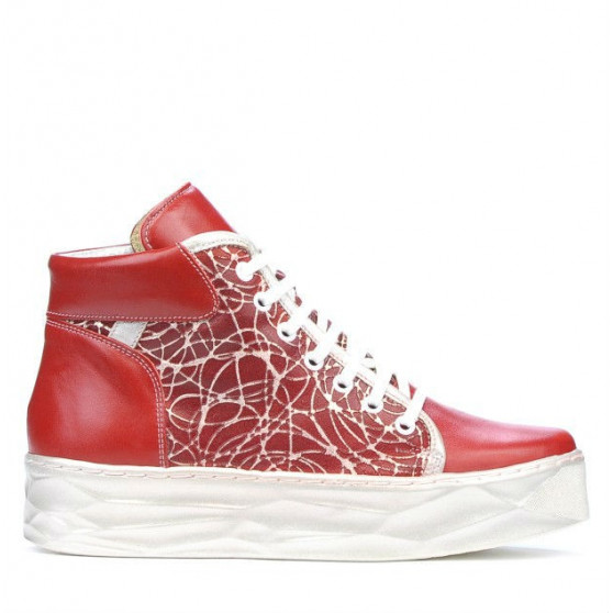 Women boots 3311 red combined