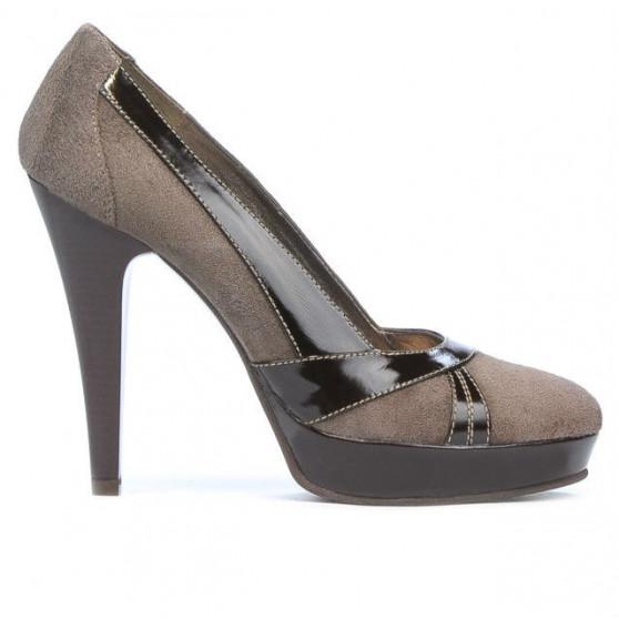 Women stylish, elegant shoes 1206 sand antilopa combined
