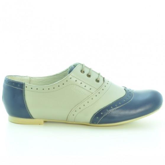 Pantofi casual dama 186 indigo+bej