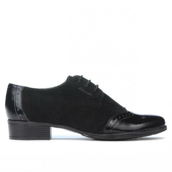 Women casual shoes 691 patent black combined