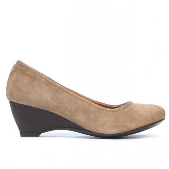 Pantofi casual dama 152-1 capucino velur
