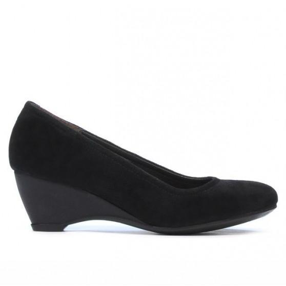 Women casual shoes 152-1 black velour