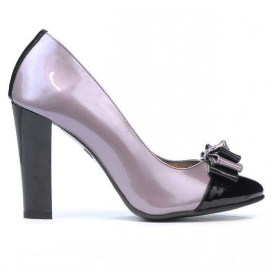 Pantofi eleganti dama 1226 lac mov+negru
