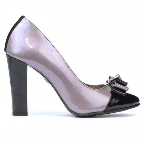 Women stylish, elegant shoes 1226 patent purple+black