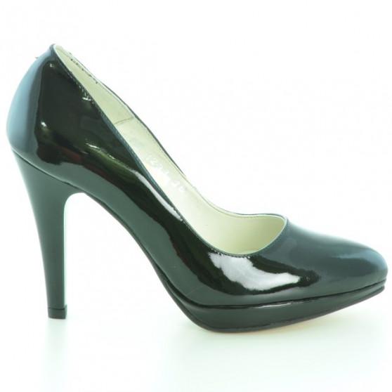 Women stylish, elegant shoes 1233 patent black