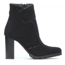 Women boots 1168 black antilopa