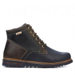 Men boots 497 tuxon indigo+brown