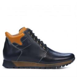 Men boots 495 indigo+brown