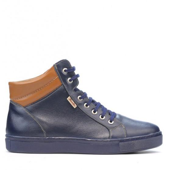 Men boots 4103 indigo+brown
