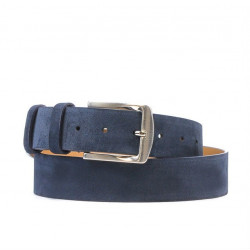 Men belt / women 01b blue velour