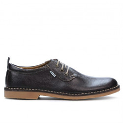 Men casual shoes (large size) 7201-1m cafe